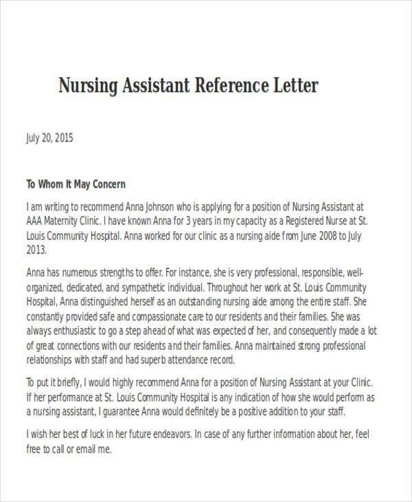 Hospital Reference Letter Reference Letter From Plantagenet - format for letter of reference
