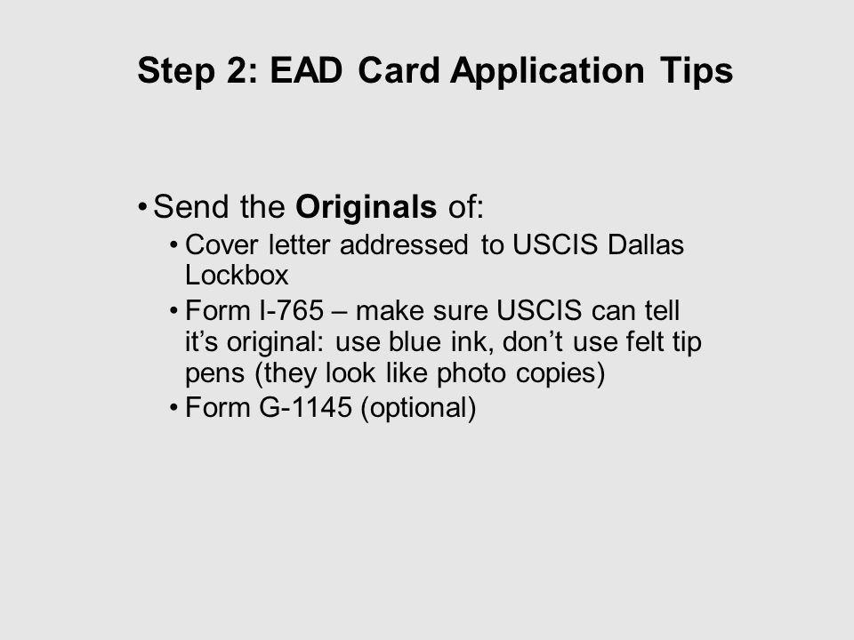 Ead Cover Letter Apply L2 Visa Ead Card Documents Checklist Sample