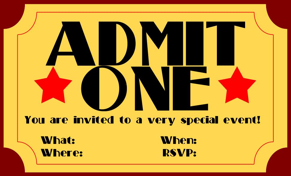 Ticket Format For Word Free Event Ticket Template Templates For - movie ticket template for word
