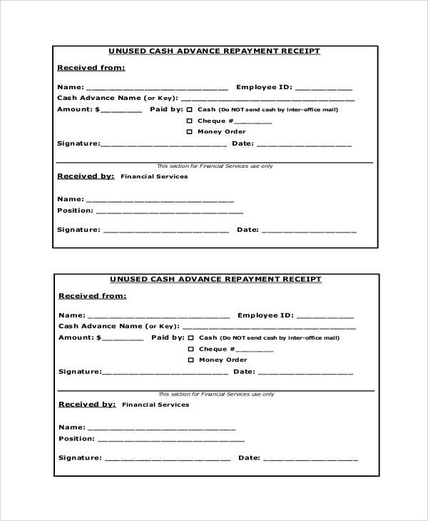Advance Payment Receipt Sample Advance Payment Receipt 8 Examples - payment receipt sample