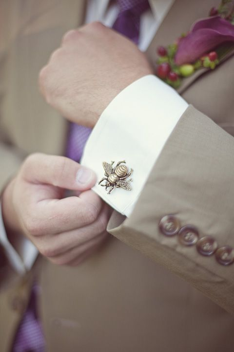 Kyle added a personal touch to  his suit   #bumblebee #wedding