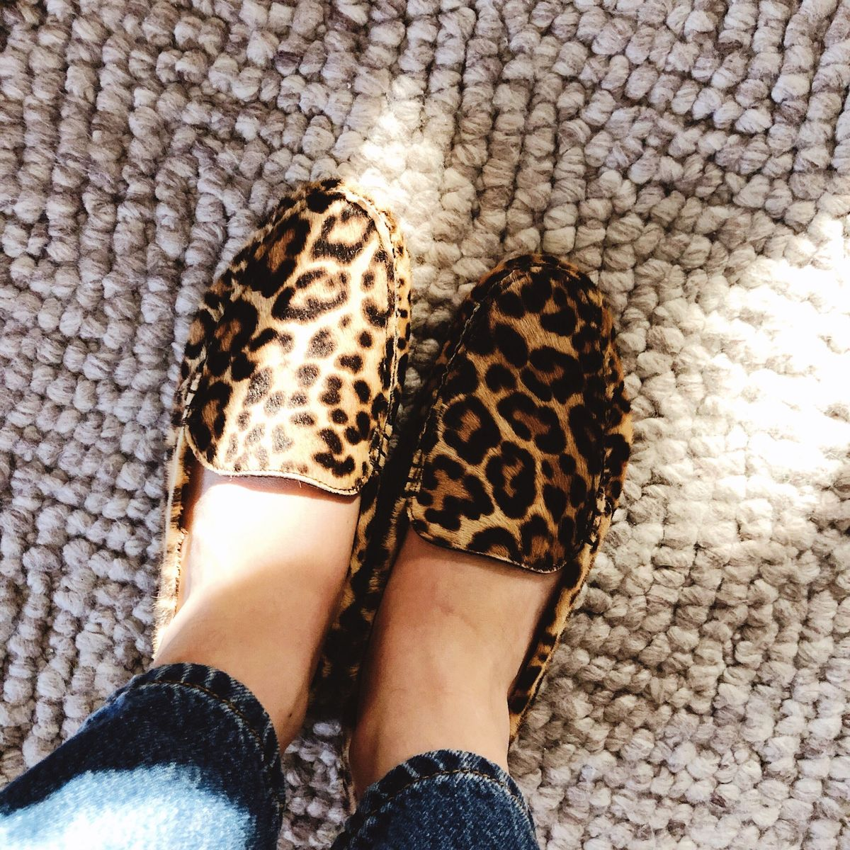 m.gemi leopard print driving moccasin loafers