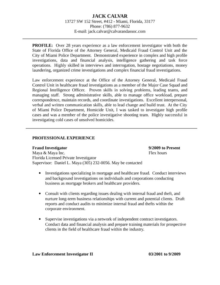 Mortgage Fraud Investigator Cover Letter Cvresumeunicloudpl