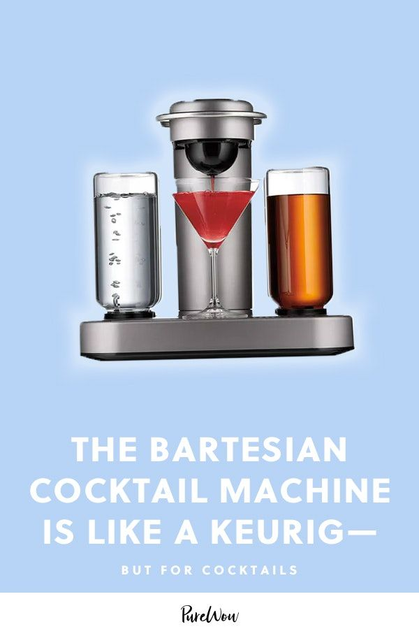 The Bartesian Cocktail Machine Is Like a Nespresso Machine, but for Cocktails