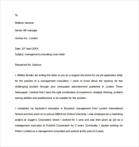 Market Research Consultant Cover Letter Cvresumeunicloudpl