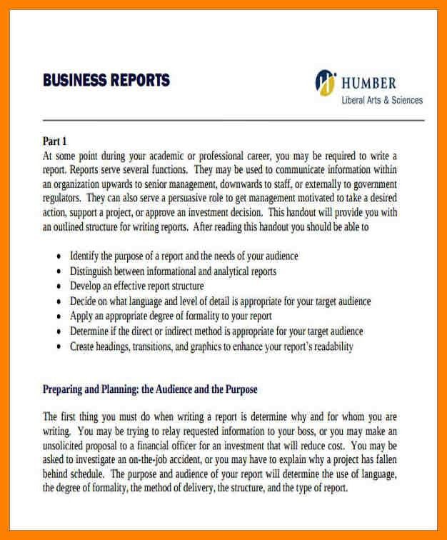 Sample Formal Business Report 17 Business Report Templates Free - format for a business report