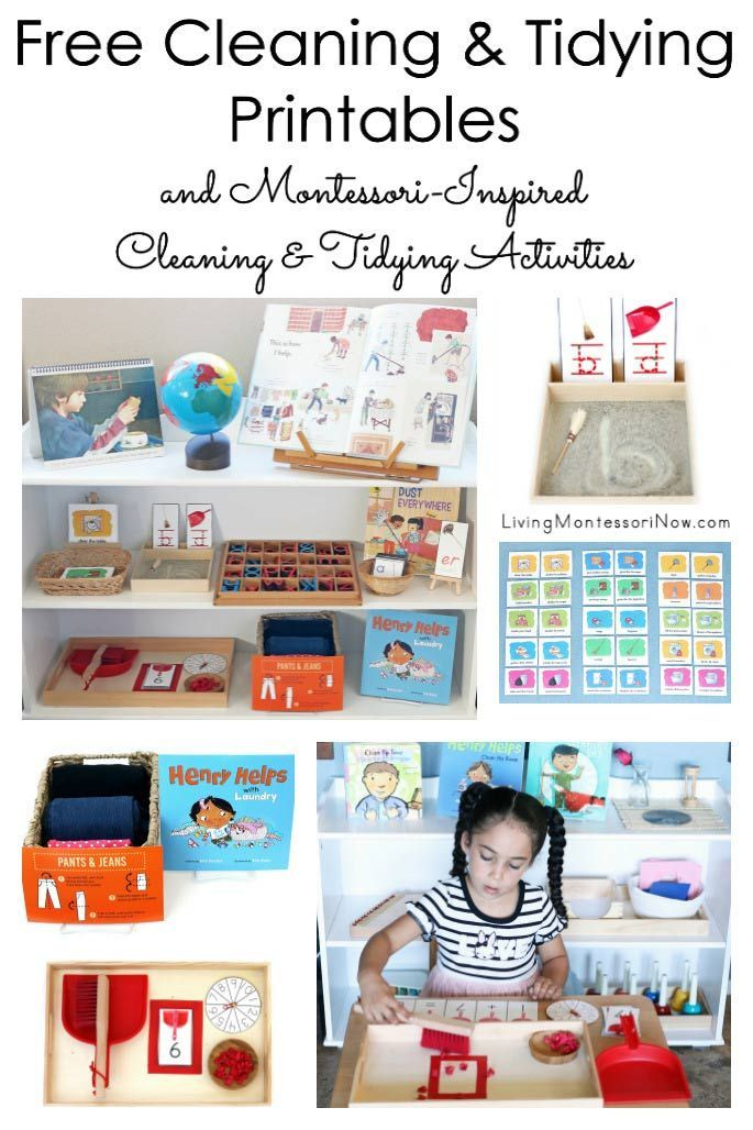 Free Cleaning and Tidying Printables with Montessori-Inspired Cleaning and Tidying Activities