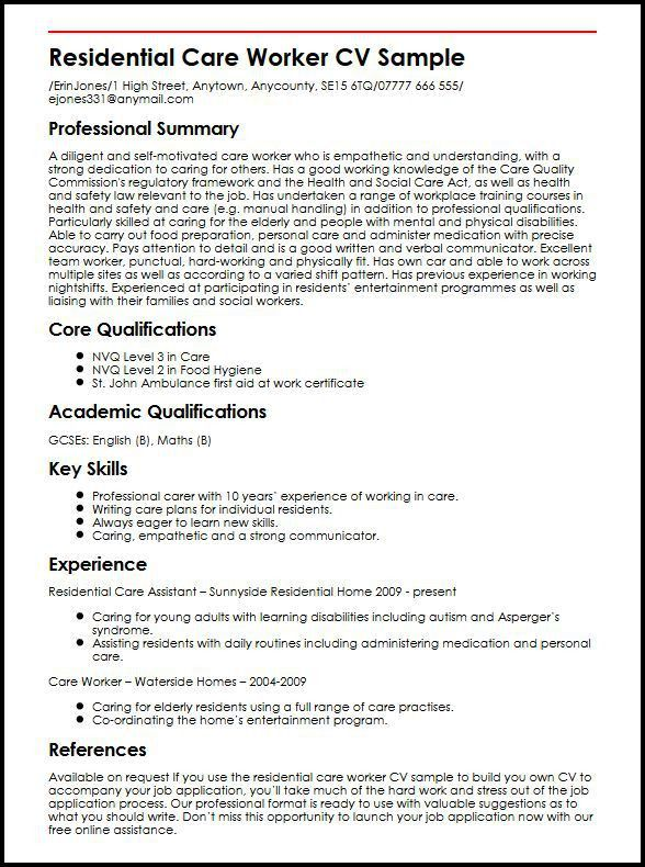 Home Care Worker Sample Resume Resume Cv Example General Manager - home health aide resume sample