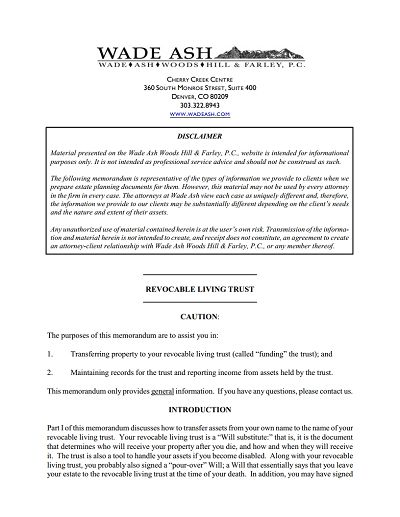 Living Trust Template Living Trust Form Sample Living Trust - living trust form