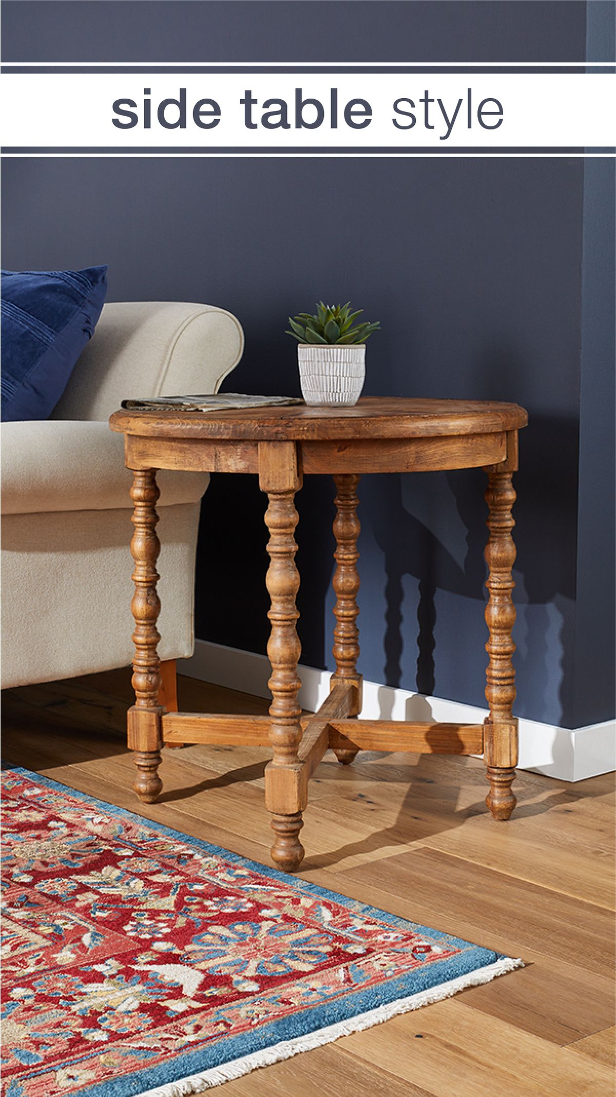 Save big on beautiful end tables at Overstock, where you'll pay less for high quality home goods! #endtables #livingroom #furniture #home #homegoods #homefurniture #livingroomtables #livingroomfurniture #furnishings #overstock #woodentables #stylishtables #cozyhome #traditionaldesign #traditionalhome #homedecor #accentdecor #livingroomaccents