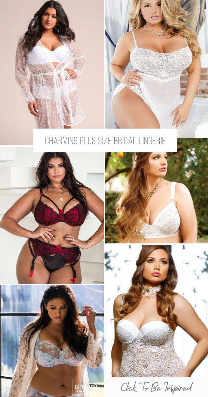 The most exquisite ladies can find a nice lingerie there. Here are presented chic variations plus size bridal lingerie to make your memories unforgettable.
