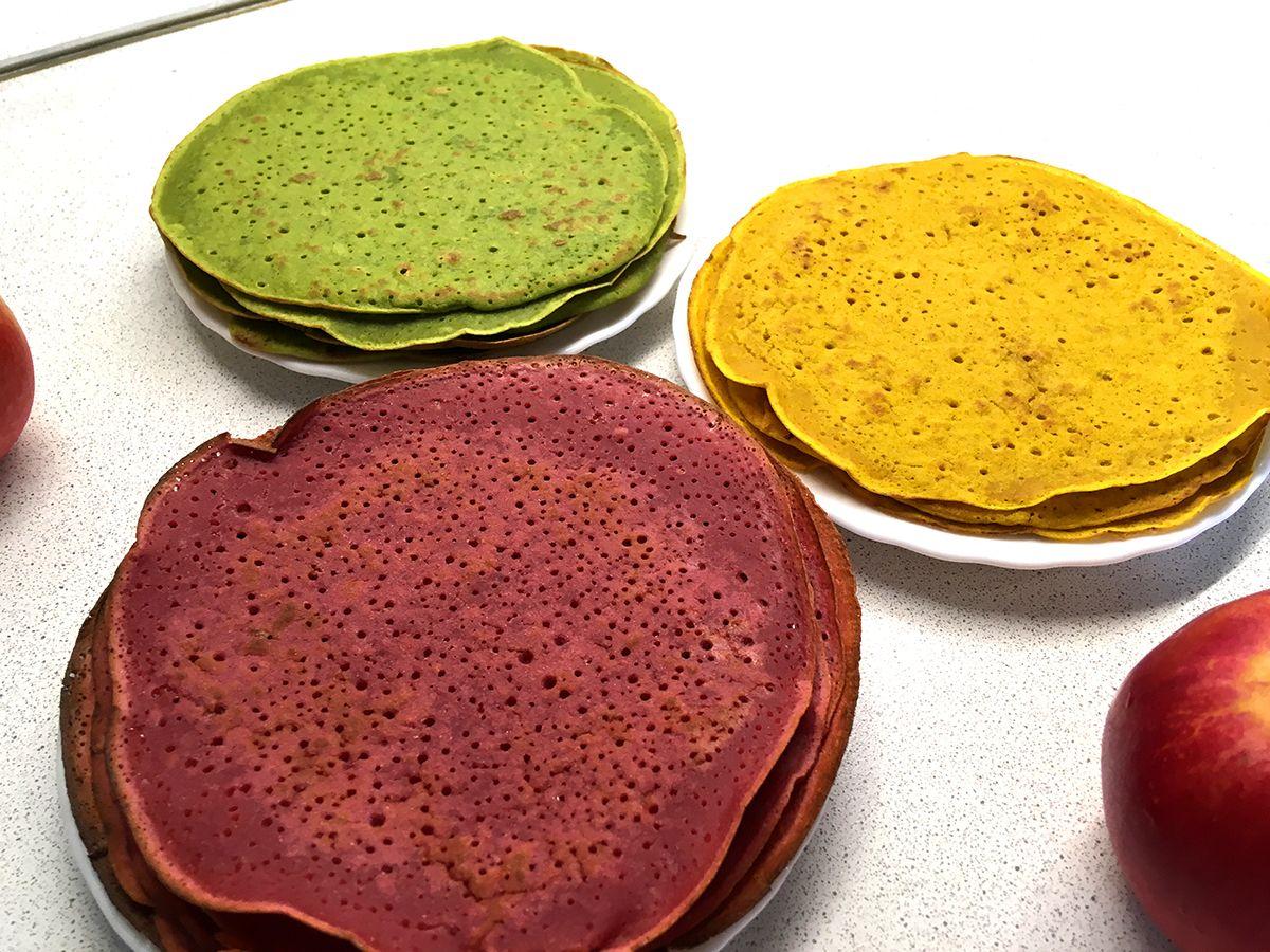 разноцветные блинчики рецепт с фото наступает
