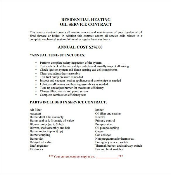Cleaning Contract Templates Cleaning Contract Template 27 Word - yearly contract template