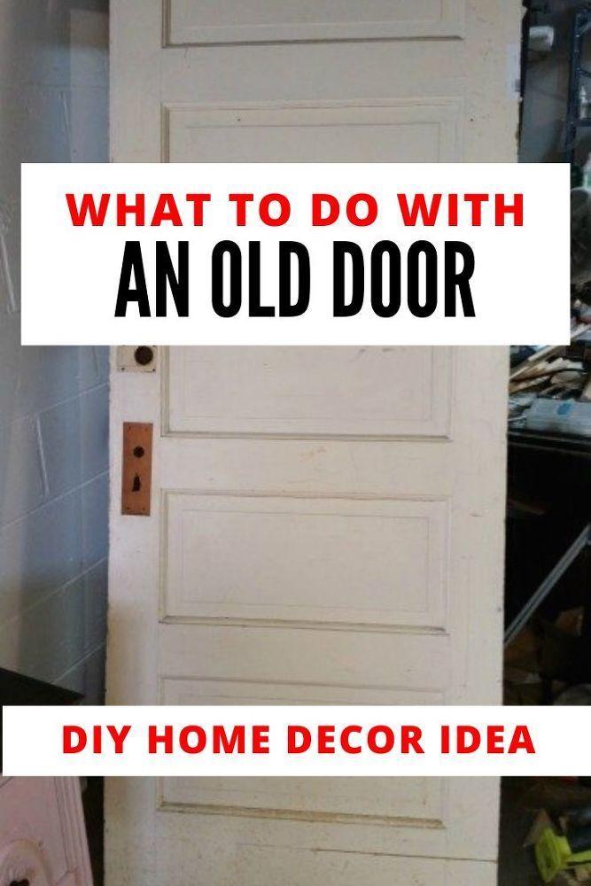 DIY Upcycle Bedroom Decor Door to Headboard Idea