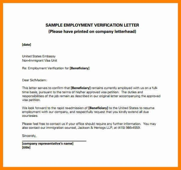 Sample Job Verification Letter 40 Proof Of Employment Letters - employee verification letter