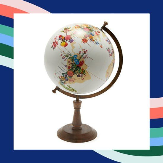 Our favorite picks from Drew Barrymore's new home decor line for Walmart, including this colorful globe.