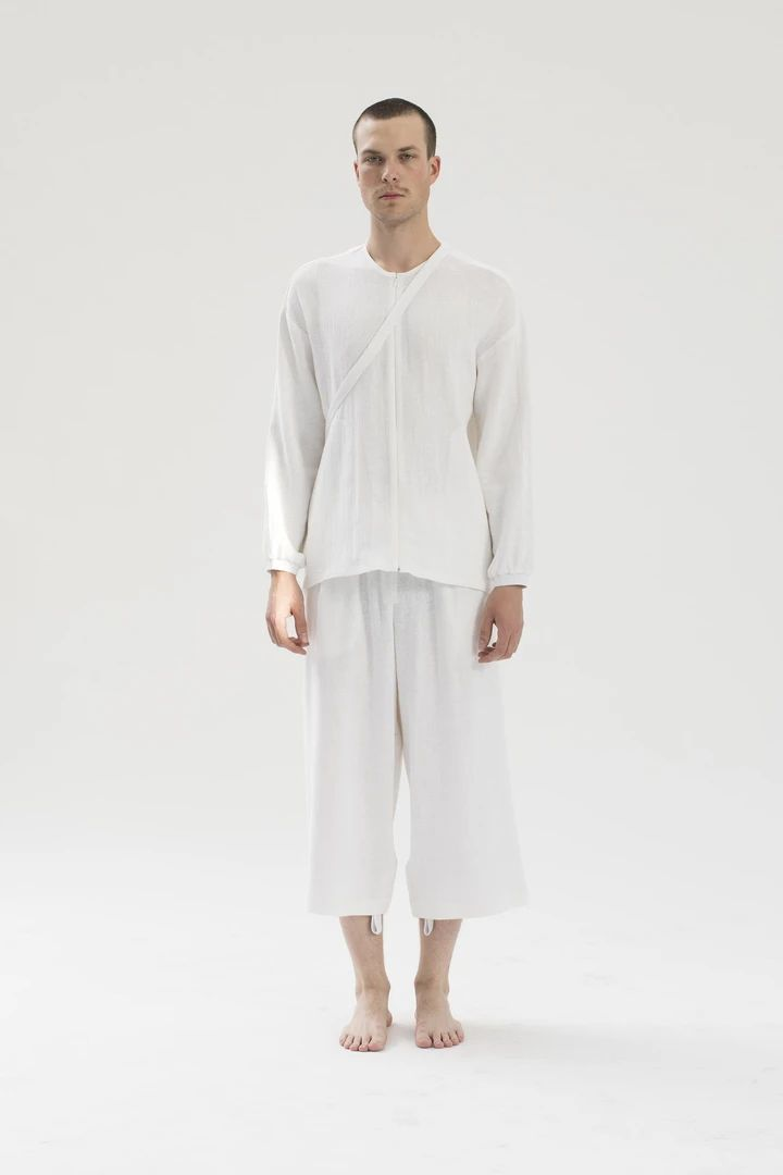 RAW Men Wide-leg Pants White S-M (sample) – Thisispaper Shop
