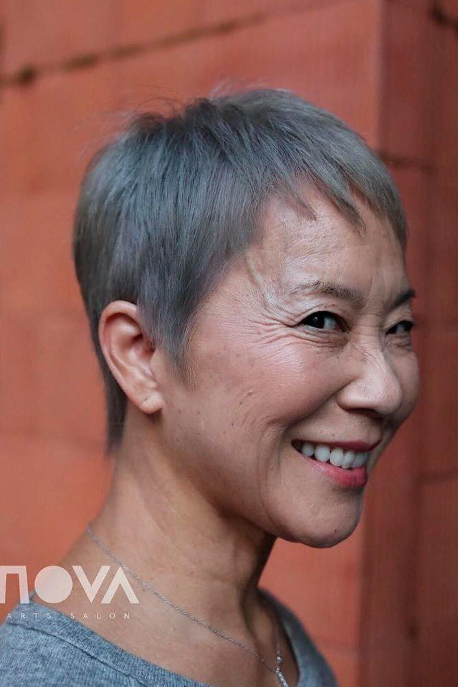 Extra Short Pixie #shorthairstyles #pixiehairstyles ★ Short haircuts for women over 50 are special due to their ability to revive the image of a woman and to make her appear years younger. 50 is not the end of the world, trust us. In this post, you can explore the cuts that will enhance your features and cut off some years. Ready? #glaminati #lifestyle #shorthaircutsforwomenover50