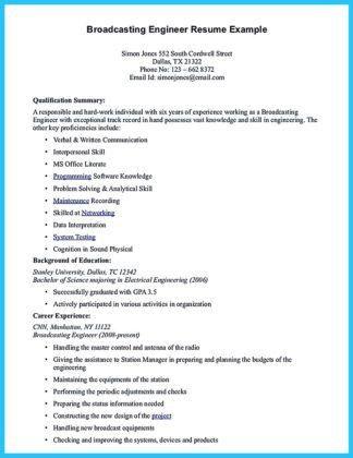 broadcasting engineer resume resume-templatepaasprovider - broadcasting engineer resume