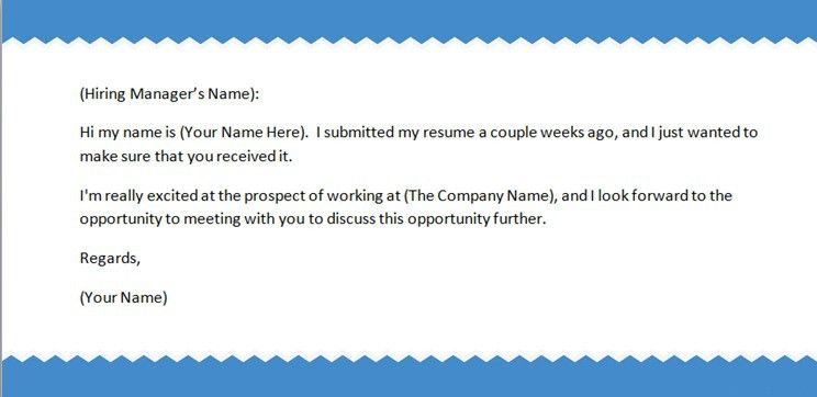 Follow Up Email After Sending Resume Sample Follow Up Email After - sample thank you email
