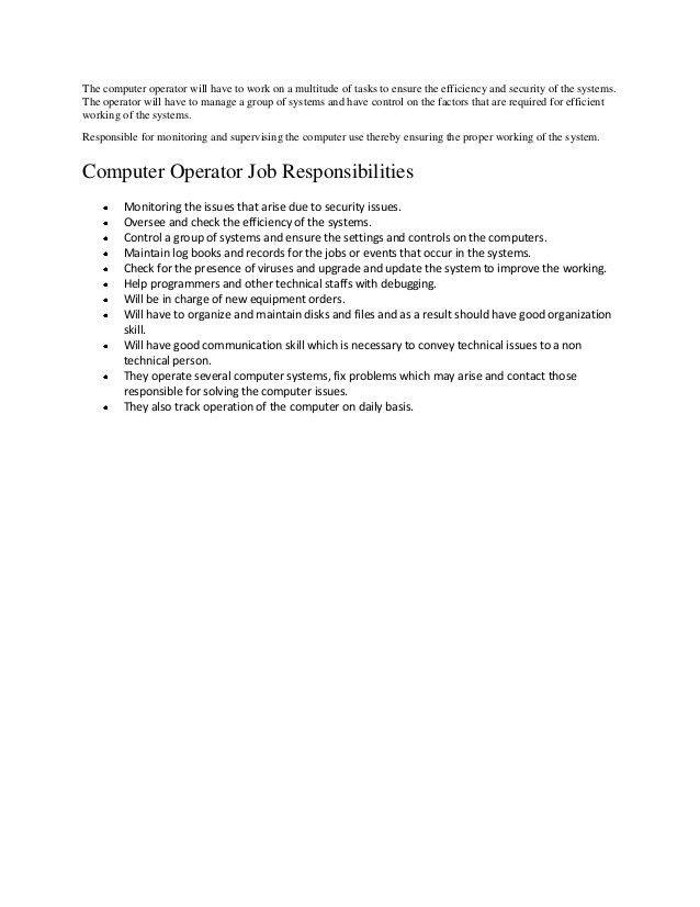 Computer Programmer Job Description Computer Programmer Job - system programmer job description