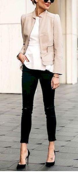 Cute simple beige blazer design