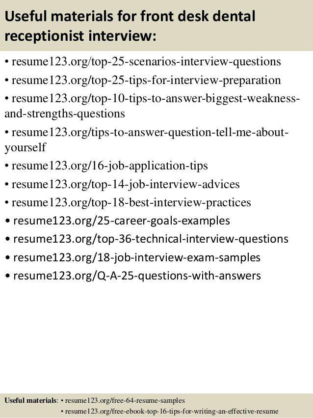 Dental Receptionist Resume Examples Dental Receptionist Resume