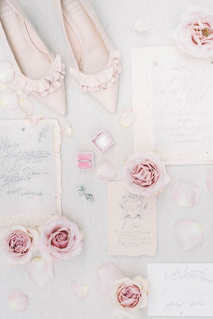 Whimsically Romantic Light Pink + Gold Spring Wedding Details