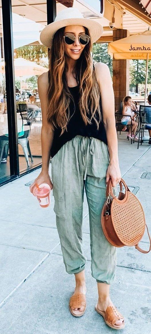 brown leather handbag #summer #outfits