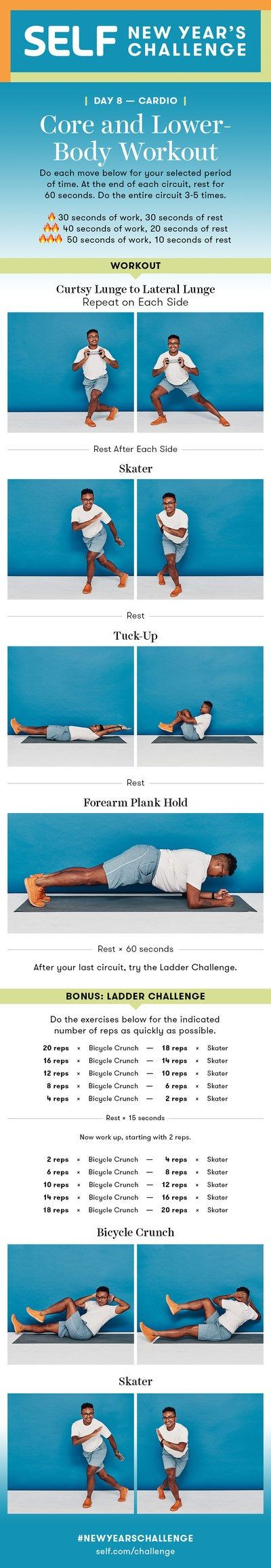 25-Minute Cardio Abs and Lower-Body Workout