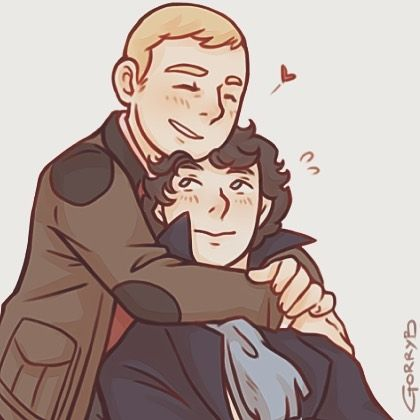 I've missed you so much!! -JW ❤️❤️❤️ #johnlock #johnlockfanart #johnlockfluff #illustration