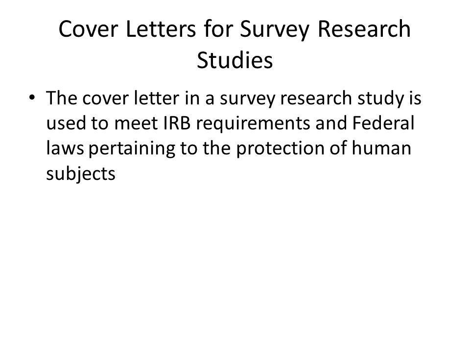 Survey Analyst Cover Letter