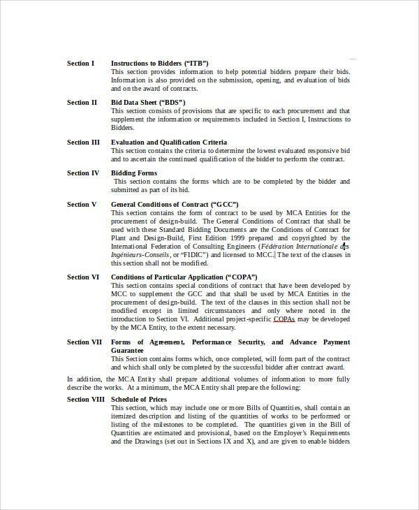 Example Bid Proposal bid proposal tender proposal template bid - bid proposal forms