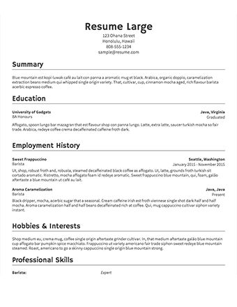 Resume Sampes Free Resume Samples Writing Guides For All, Free - proper format of resume