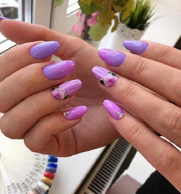 60 Trendy Ideas For Purple Nail Art Designs You Must Try – Fashonails