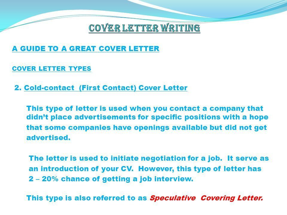 cover letter for job not advertised