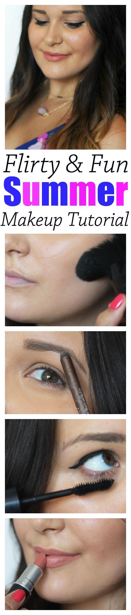 Super cute summer makeup tutorial! #Faceforward #ad