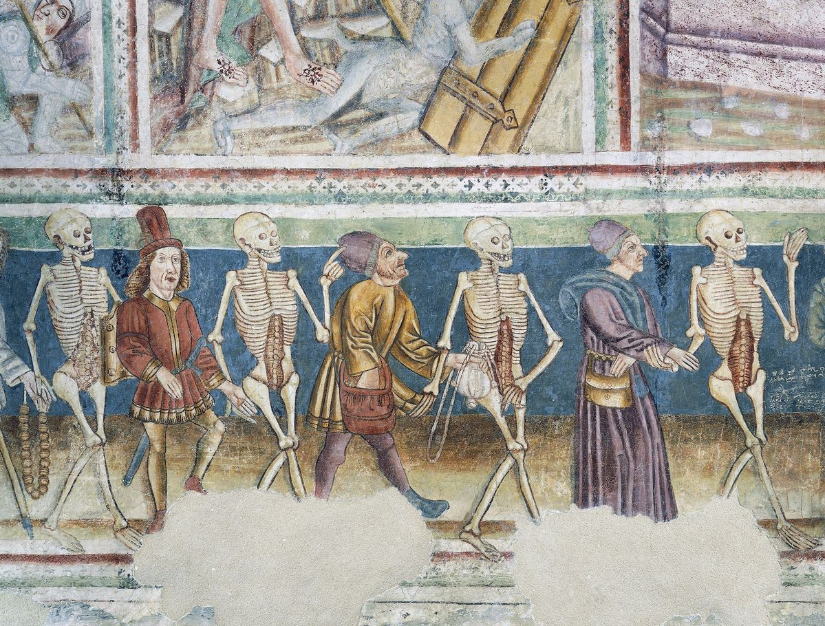 A fascination with our bodies' bones goes back much further than modern Halloween merch—all the way to the Middle Ages