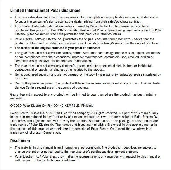 Product Manual Template User Manual Freewordtemplatesnet, User - sample user manual template