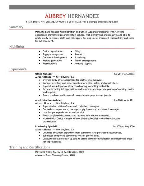 Resumes For Office Jobs Best Office Assistant Resume Example - administrative coordinator resume