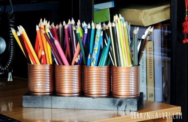 Turn Tin Cans into a Free Organizer