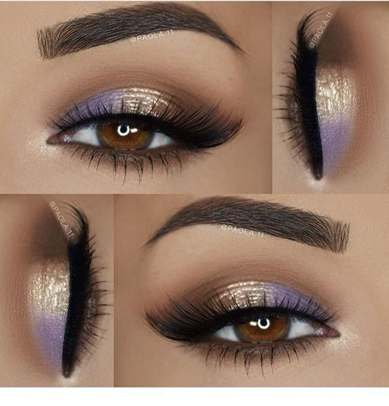 I like the purple detail for brown eyes