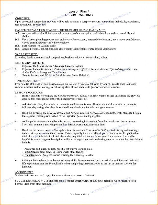 resume job titles