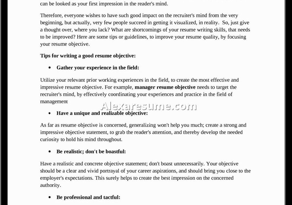 How To Write A Good Resume For Your First Job First Job Resume - well written resume examples