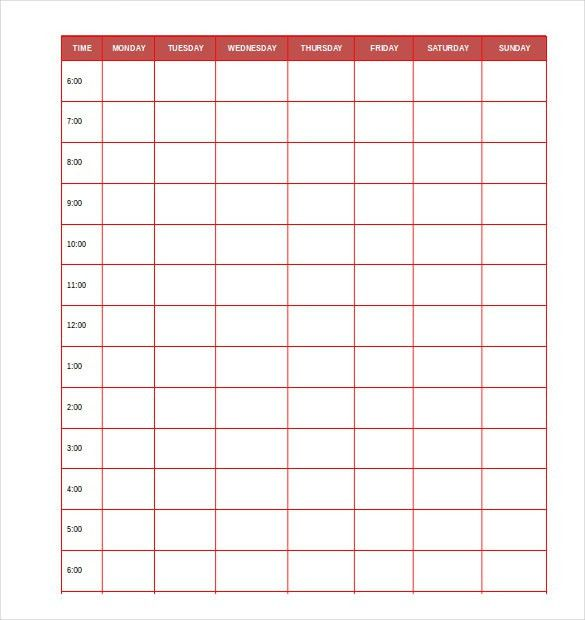 Time Planner Template Daily Planner Template 26 Free Word Excel - daily planner sheets
