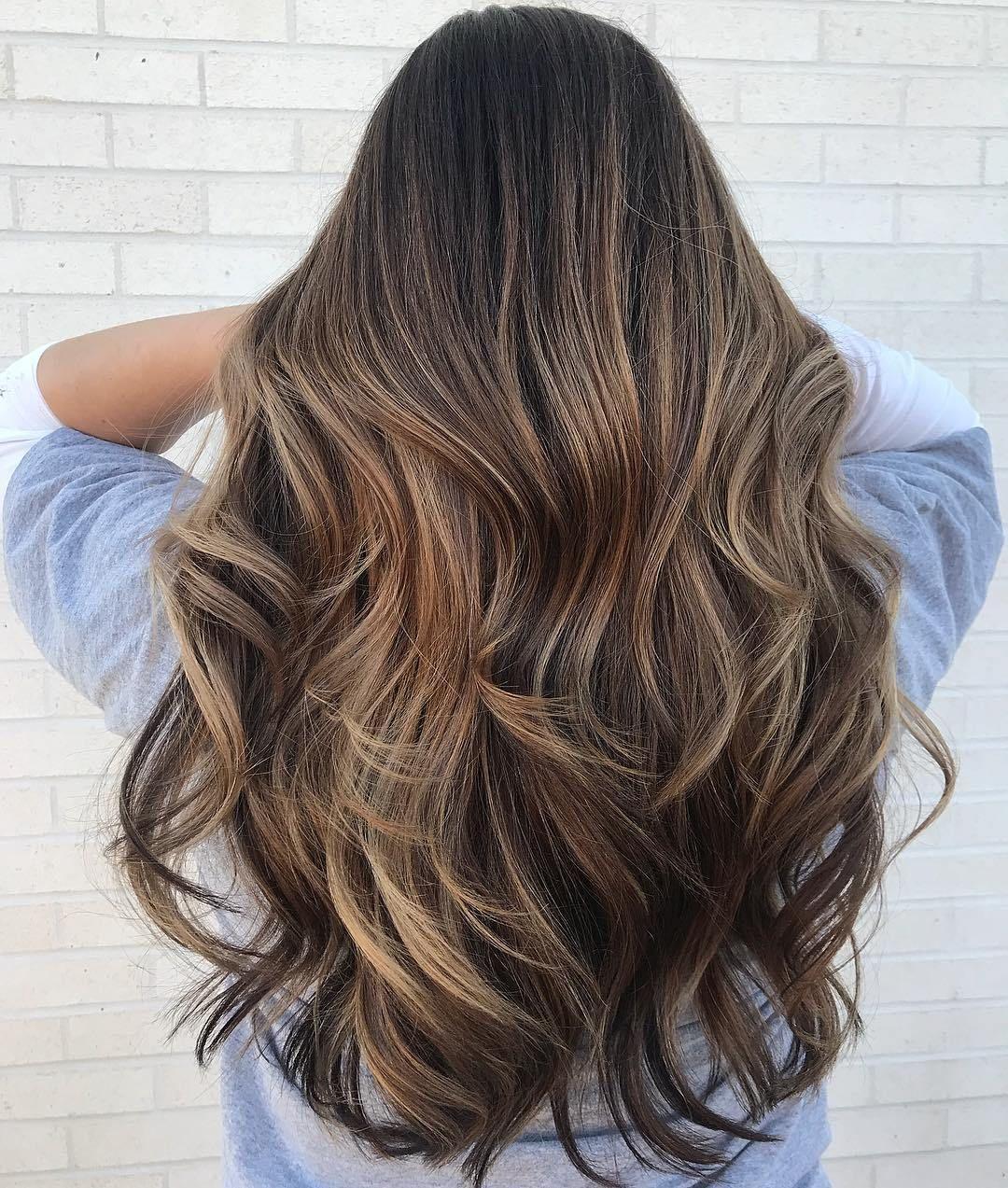 Long Wavy Light Brown Balayage Hair #hairstylesforlonghair
