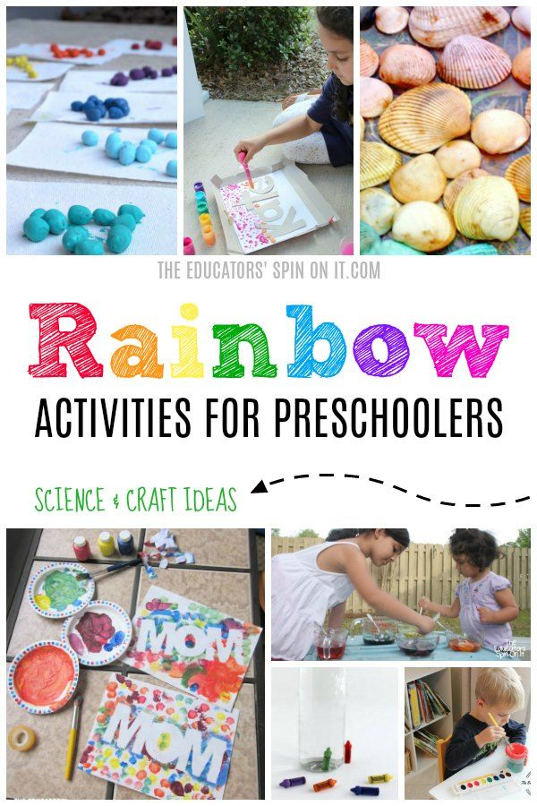 Rainbow Activities for Preschoolers that feature Science and Craft Ideas via @educatorsspinon