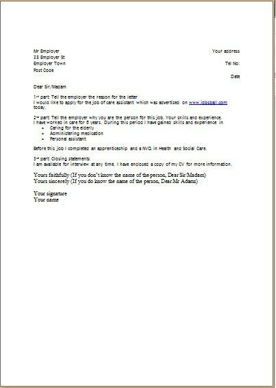 Example Of Cv Covering Letter Cover Letter Examples Template - resumes and cover letters examples