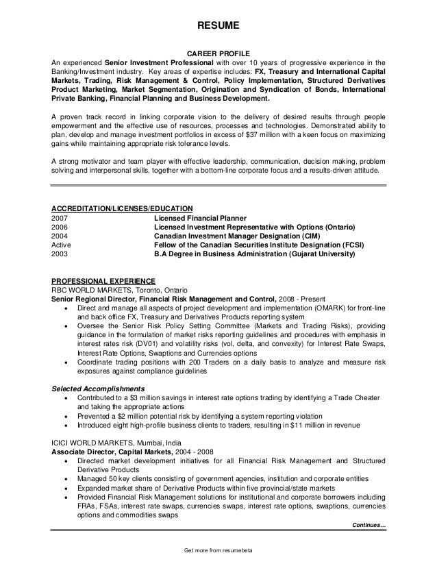 derivatives analyst sample resume node2004-resume-template