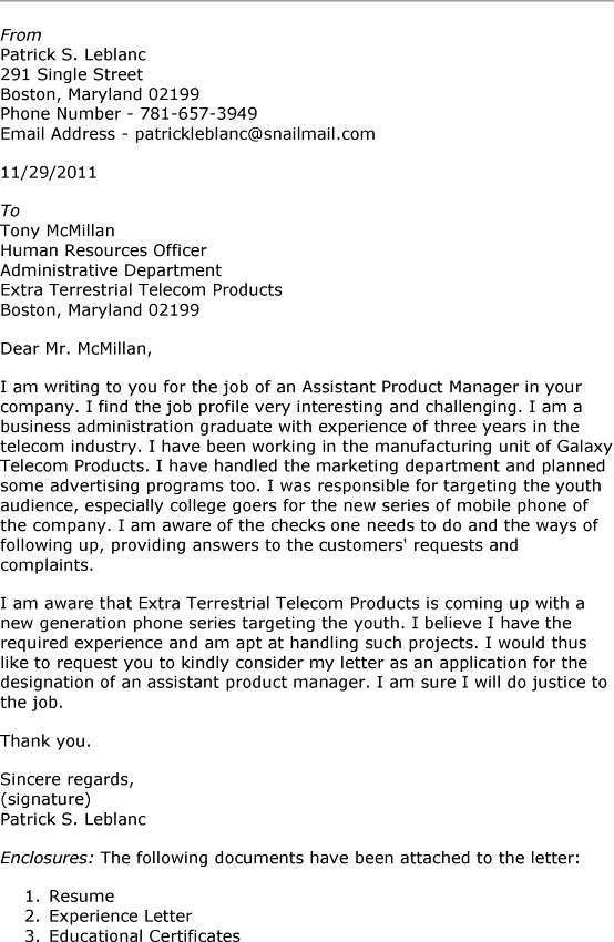 ... Product Manager Cover Letter Sample Assistant Product Manager    Telecommunication Project Manager Cover Letter ...